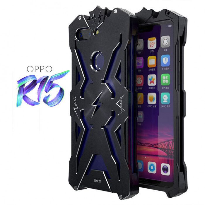 SIMON THOR Aluminum Alloy Metal Frame Bumper Cover Case For OPPO R15
