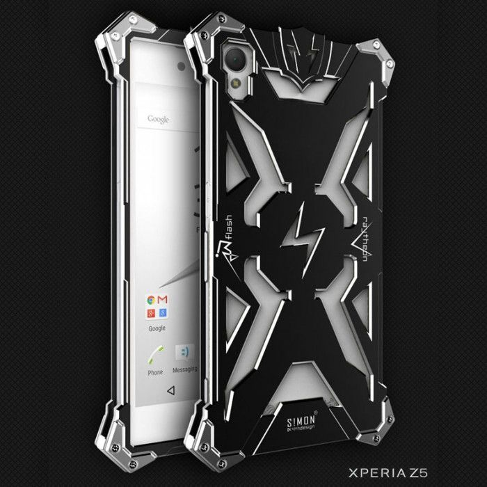 SIMON THOR Aluminum Alloy Metal Frame Bumper Cover Case For Sony Xperia Z5