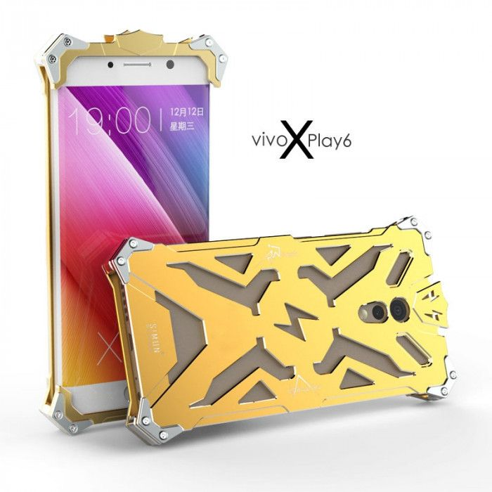 SIMON THOR Aluminum Alloy Metal Frame Bumper Cover Case For VIVO Xplay 6