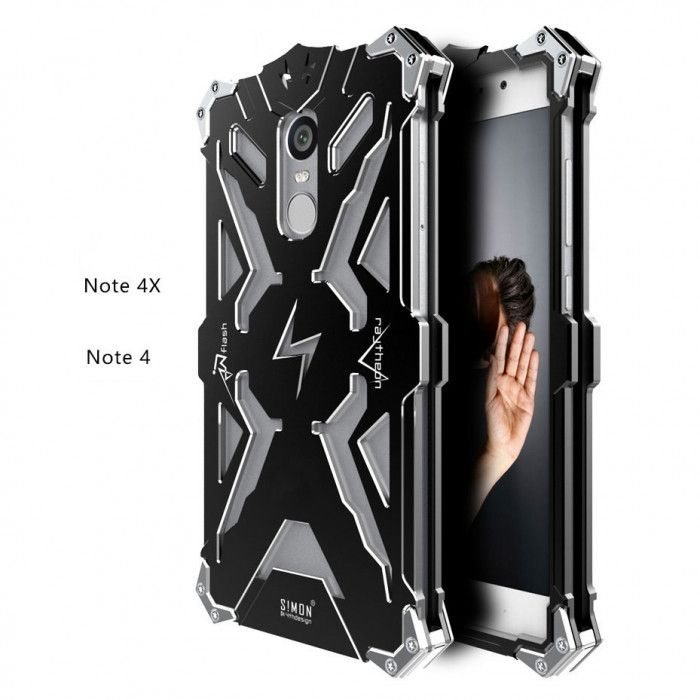 SIMON THOR Aluminum Alloy Metal Frame Bumper Cover Case For Xiaomi Redmi Note 4/4X