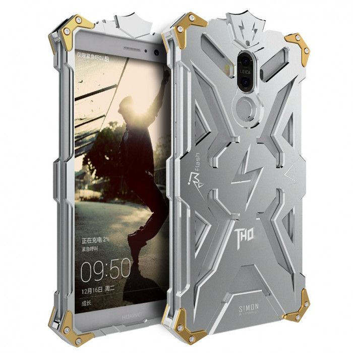 SIMON THOR Aviation Aluminum Alloy Shockproof Armor Metal Case Cover For Huawei Mate 9