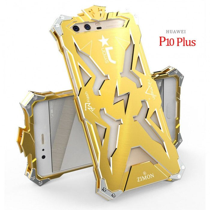 SIMON THOR Aviation Aluminum Alloy Shockproof Armor Metal Case Cover For Huawei P10 Plus