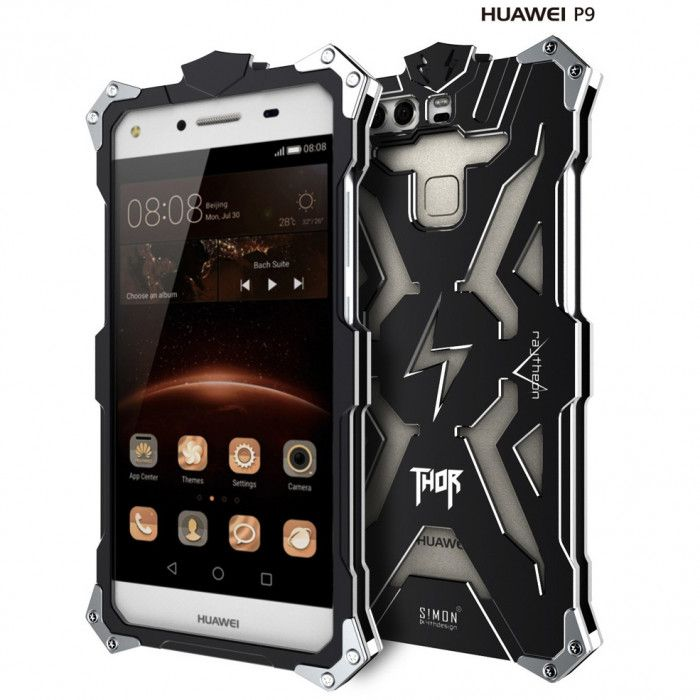 SIMON THOR Aviation Aluminum Alloy Shockproof Armor Metal Case Cover For Huawei P9