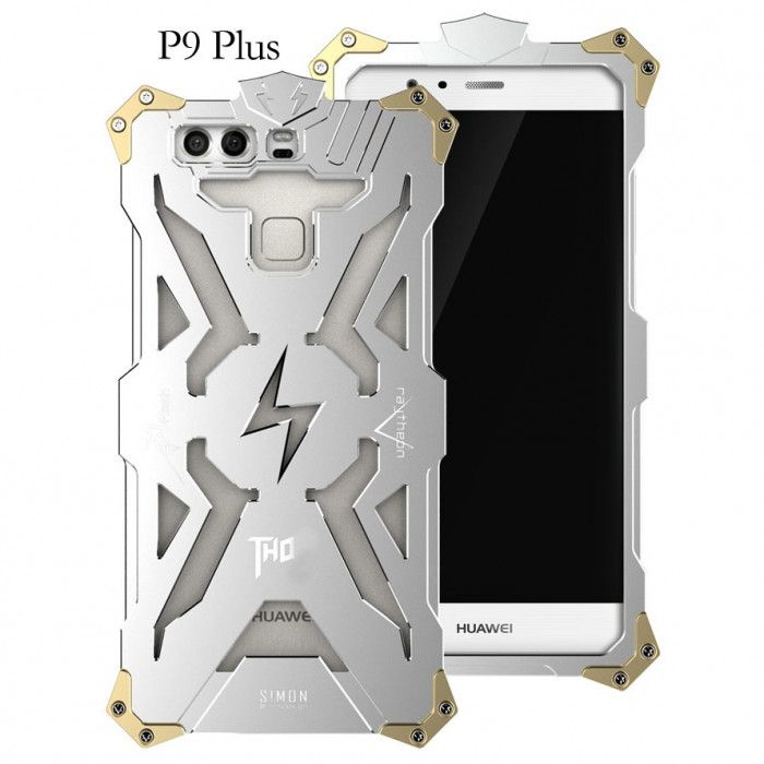 SIMON THOR Aviation Aluminum Alloy Shockproof Armor Metal Case Cover For Huawei P9 Plus
