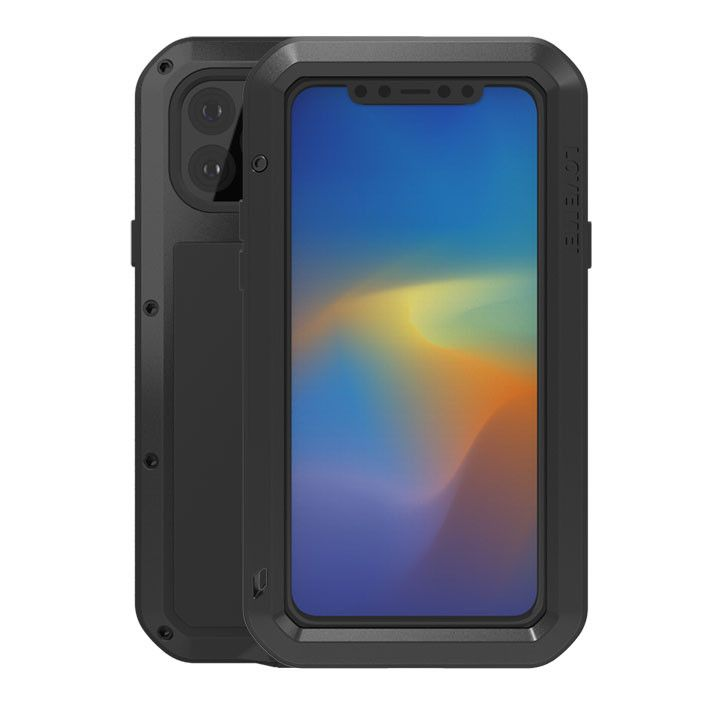 Love Mei Dustproof & Shockproof Metal Powerful Protective Case For iPhone 11 Pro Max