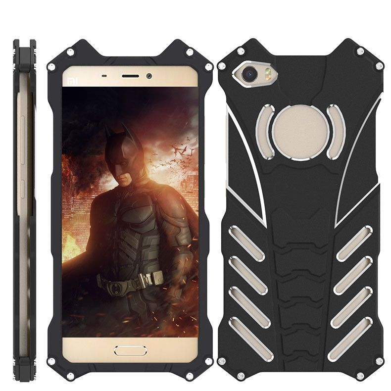 new product dc8ce 9afde R-Just Shockproof Aluminum Alloy Metal Protective Case For Xiaomi Mi5