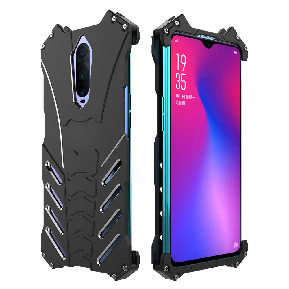 huge discount 9c5f3 6884b R-Just Classic Shockproof Aluminum Alloy Metal Protective Case For OPPO  R17/R17 Pro