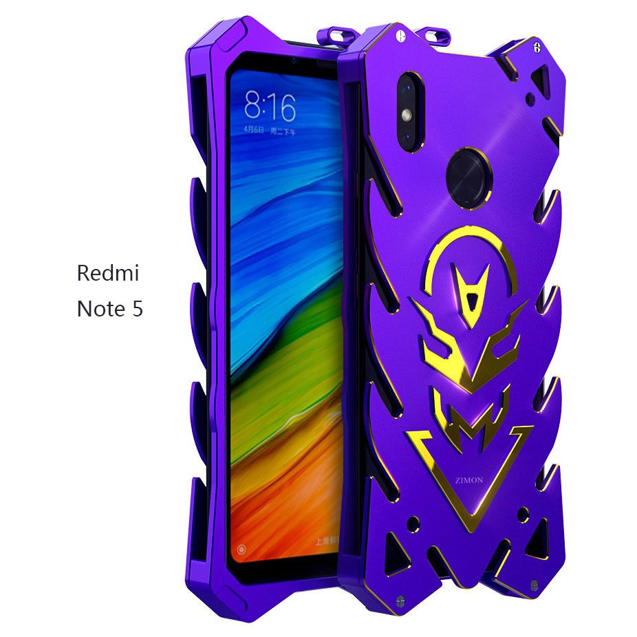 outlet store 8cb75 23c56 SIMON New Style Cool Aluminum Alloy Metal Frame Bumper Cover Case For  Xiaomi Redmi Note 5