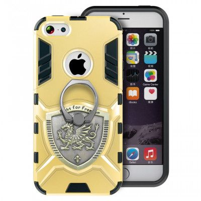 Armor Style Double Protection TPU+PC Case With Ring Holder For iPhone 5