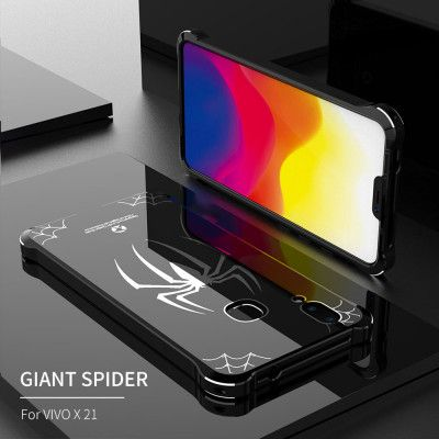 Creative Design Full Protection Metal Bumper+Acrylic Back Cover Case For ViVO X21/X21 Screen Fingerprint Edition