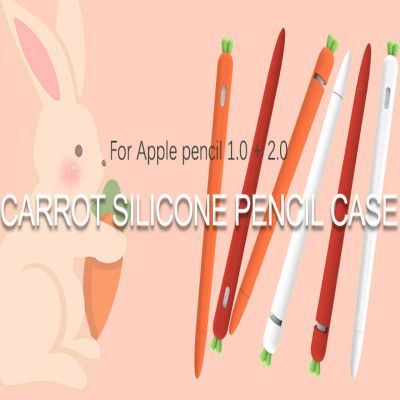Cute Carrot Silicone Pencil Case For Apple Pencil 1.0 + 2.0