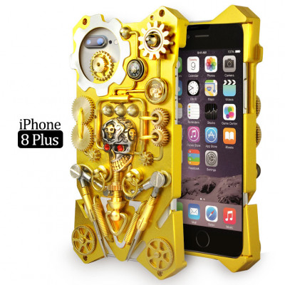 Gothic Steampunk Mechanical Gear Metal Case For iPhone 6 Plus/7 Plus/8 Plus