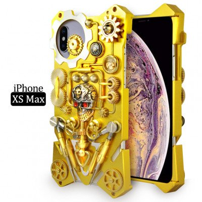 Gothic Steampunk Mechanical Gear Metal Case For iPhone XS Max/XS/XR