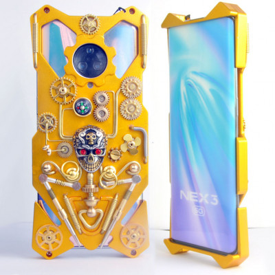 Gothic Steampunk Mechanical Gear Metal Case For ViVO NEX 3S/NEX 3