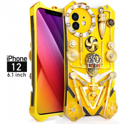 Gothic Steampunk Mechanical Gear Metal Case For iPhone 12 Pro Max/iPhone 12 Pro/iPhone 12 Mini/iPhone 12