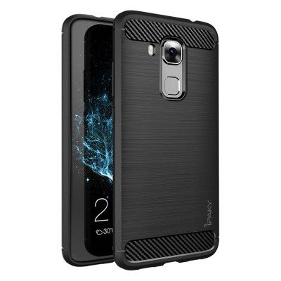 IPAKY Carbon Fiber Decorated Brushed Grain Ultra Thin TPU Full Surround Back Cover Case For Huawei Maimang 5