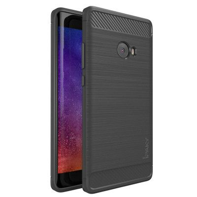 IPAKY Carbon Fiber Decorated Brushed Grain Ultra Thin TPU Full Surround Back Cover Case For Xiaomi Mi Note 2