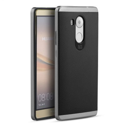 IPAKY Hybrid Case PC Frame With Silicone Protective Cover Case For Huawei Mate 8