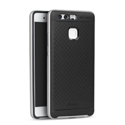 IPAKY Hybrid Case PC Frame With Silicone Protective Cover Case For Huawei P9
