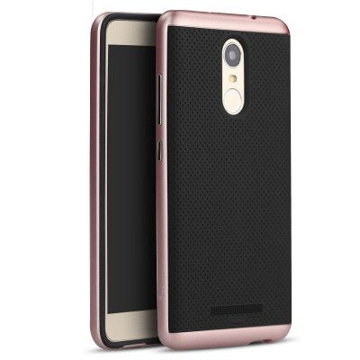 IPAKY Hybrid Case PC Frame With Silicone Protective Cover Case For Xiaomi Redmi Note 3
