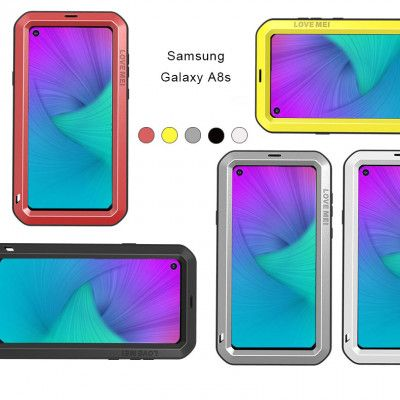 Love Mei Dust Proof & Shock Proof Aluminum Alloy Metal Powerful Protective Case For Samsung A8S