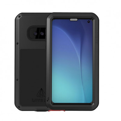 Love Mei Dust Proof & Shock Proof Aluminum Alloy Metal Powerful Protective Case For Samsung GALAXY S10 E