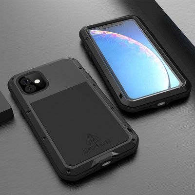 Love Mei Dustproof & Shockproof Metal Powerful Protective Case For iPhone 11