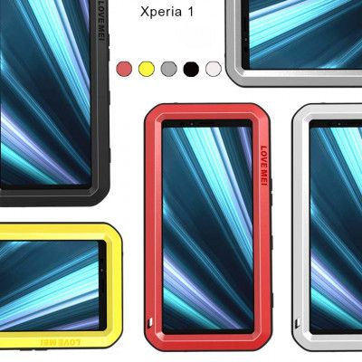 Love Mei Dustproof & Shockproof Metal Powerful Protective Case For Sony Xperia 1