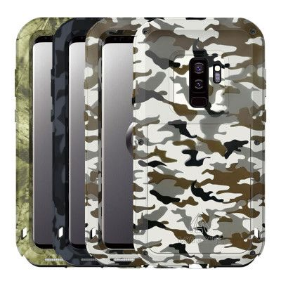 Love Mei Camo Series Dustproof & Shockproof Aluminum Alloy Metal Powerful Protective Case For GALAXY S9/S9+