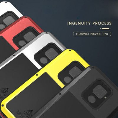 Love Mei Dustproof & Shockproof Aluminum Alloy Metal Powerful Protective Case For Huawei Nova 5i Pro