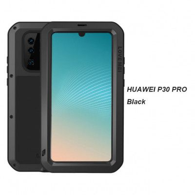 Love Mei Dustproof Shockproof Aluminum Alloy Metal Powerful Protective Case For Huawei P30 Pro