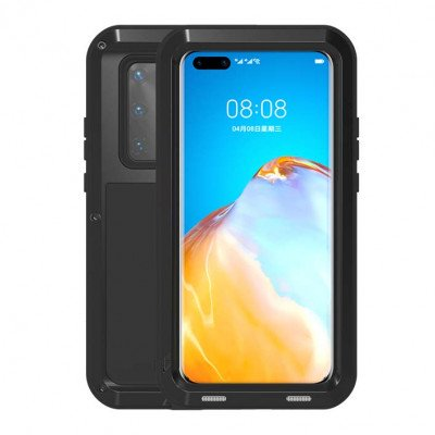 Love Mei Dustproof Shockproof Aluminum Alloy Metal Powerful Protective Case For HUAWEI P40 Pro