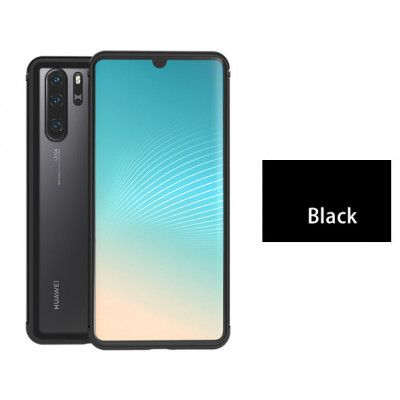 Love Mei Shadow Series Metal Bumper+Tempered Glass Back Cover Case For Huawei P30 Pro