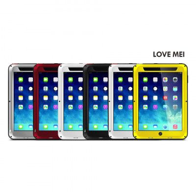 Love Mei Shock Proof Aluminum Alloy Metal Powerful Protective Case For IPAD Air