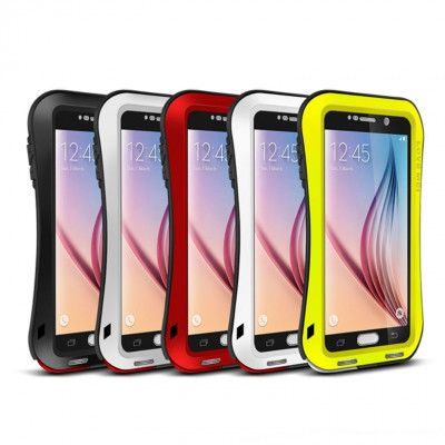 Love Mei Small Waist Series Snow Proof Aluminum Alloy Metal Powerful Protective Case For Samsung GALAXY S6
