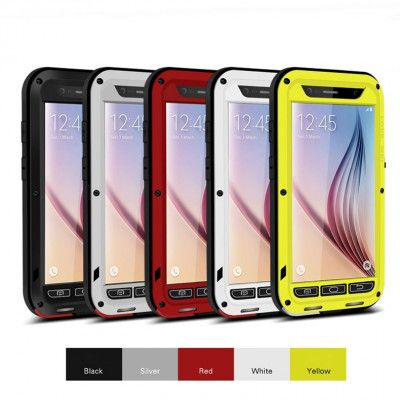 Love Mei Snow Proof & Shock Proof Aluminum Alloy Metal Powerful Protective Case For Samsung GALAXY S6