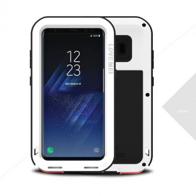 Love Mei Snow Proof & Shock Proof Aluminum Alloy Metal Powerful Protective Case For Samsung GALAXY S8/S8 Plus