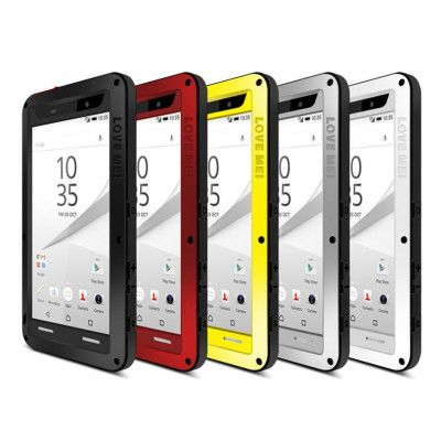 Love Mei Snow Proof & Shock Proof Aluminum Alloy Metal Powerful Protective Case For SONY Xperia Z5