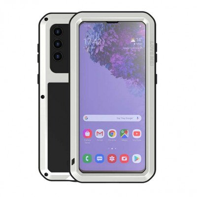 Love Mei Dust Proof Shock Proof Metal Powerful Protective Case For Samsung GALAXY S21+