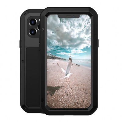 Love Mei Dustproof & Shockproof Metal Powerful Protective Case For iPhone 12 Pro