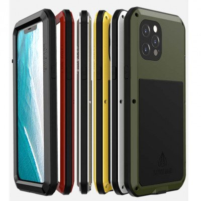 Love Mei Dustproof & Shockproof Metal Powerful Protective Case For iPhone 12 Pro Max