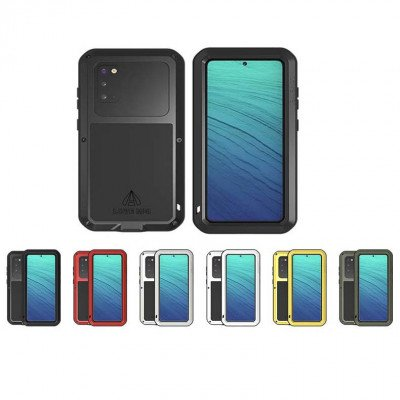 Love Mei Dust Proof Shock Proof Metal Powerful Protective Case For Samsung GALAXY S20
