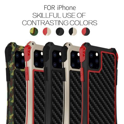 R-Just AMIRA Series Dirt Proof & Shock Proof Powerful Metal & Silicone Protective Case For iPhone 11 Pro Max/iPhone 11 Pro/iPhone 11