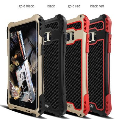 R-Just AMIRA Series Dirt Proof & Shock Proof Powerful Metal & Silicone Protective Case For Samsung Galaxy Note FE