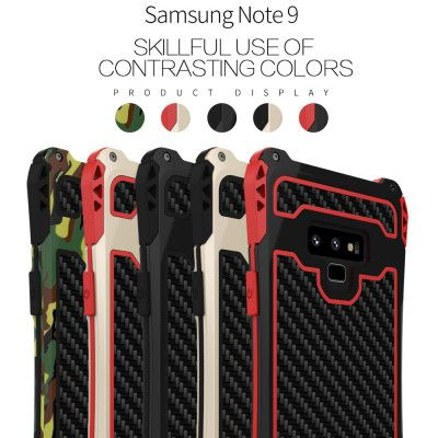 R-Just AMIRA Series Dirt Proof & Shock Proof Powerful Metal & Silicone Protective Case For Samsung Note 9