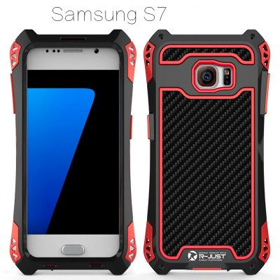 R-Just AMIRA Series Dirt Proof & Shock Proof Powerful Metal & Silicone Protective Case For Samsung S7/S7 Edge