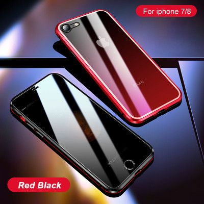R-Just Anti-Peep Gradual Change Style Toughened Glass Magnetic Adsorption Metal Frame For iPhone 7/8/i7P/i8P/X/XS/XR/XS Max