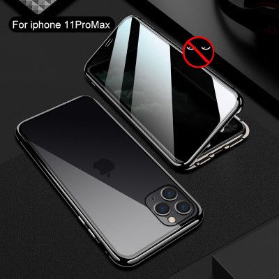 R-Just Anti-peep Toughened Glass Magnetic Adsorption Metal Frame For iPhone 11 Pro Max/11 Pro/11
