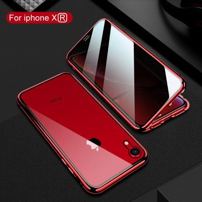 R-Just Anti-Peep Toughened Glass Magnetic Adsorption Metal Frame For iPhone 7/8/i7P/i8P/X/XS/XR/XS Max