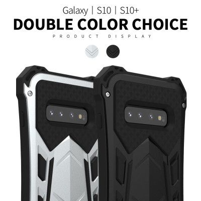 R-Just Armor Series Shock Proof Powerful Metal & Silicone Protective Case For Samsung Galaxy S10 Plus/S10/S10 5G